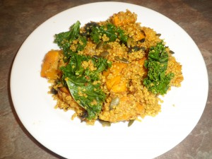 Kale, Quinoa and Roasted Pumpkin Pilaf