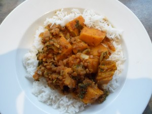 Spiced Lentils with Pumpkin