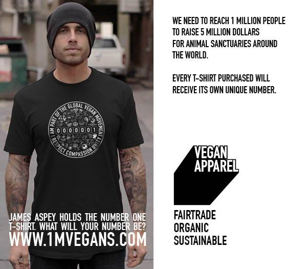 New 1 Million Vegans T-Shirt Available Online