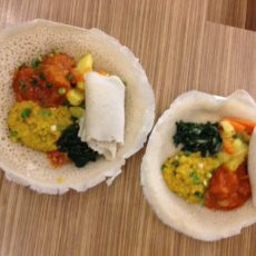 Mixed Vegetarian Plates at Fekerte's Ethiopian