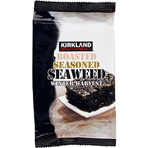 Roasted seasoned seaweed by Kirkland @ Costco