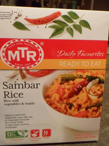 Sambar Rice (with vegetables and lentils) made by MTR