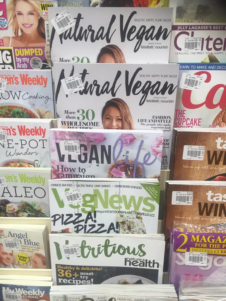 Expanded Vegan magazine selection available @ Top Newsagency, Woden
