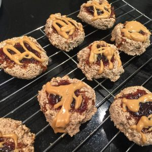 Flourless Thumbprint Breakfast Cookies – Ground Flaxseed Version