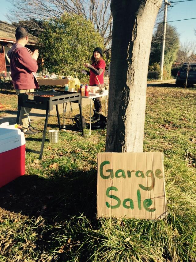 Garage Sale and Sausage Sizzle