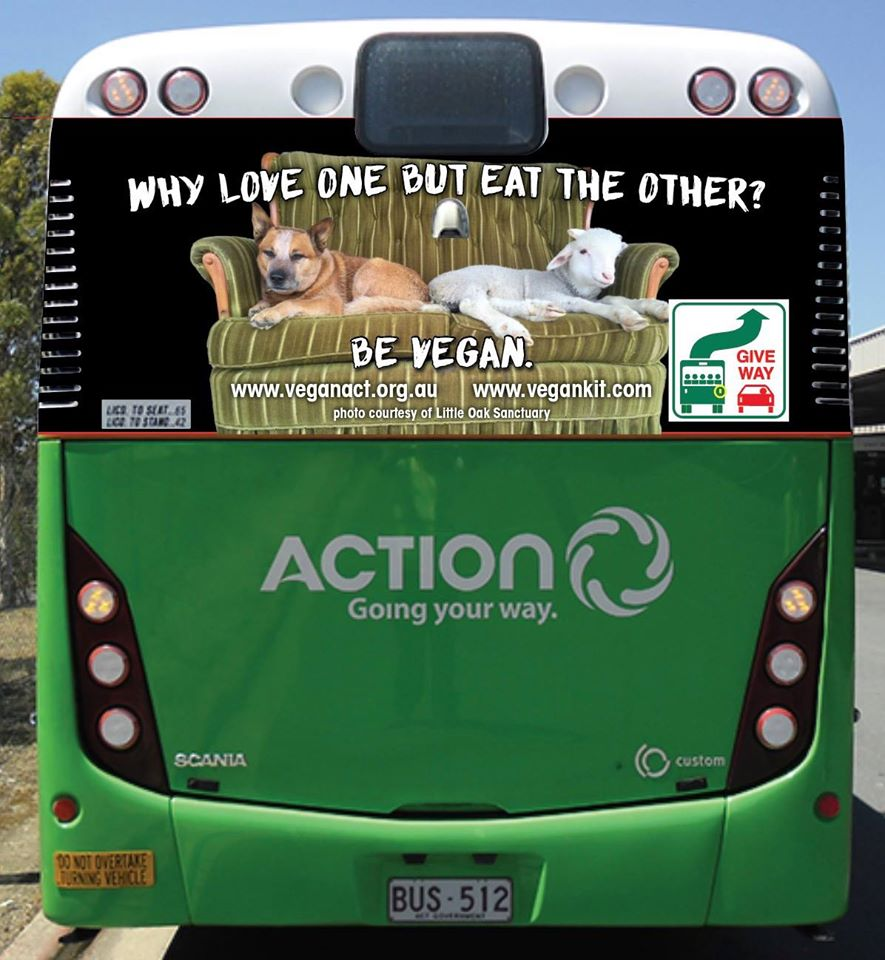 'Why love one but eat the other' ACTION Bus Ad Hits the Streets!