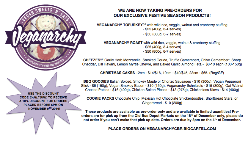 Veganarchy Festive Season Products – Pre-Order before sold out!