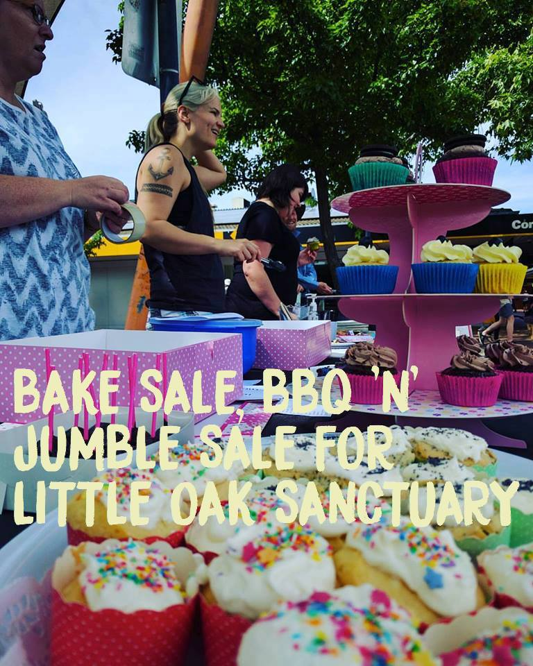 Bake Sale, BBQ & Jumble Sale for Little Oak Sanctuary – 4 February 2017