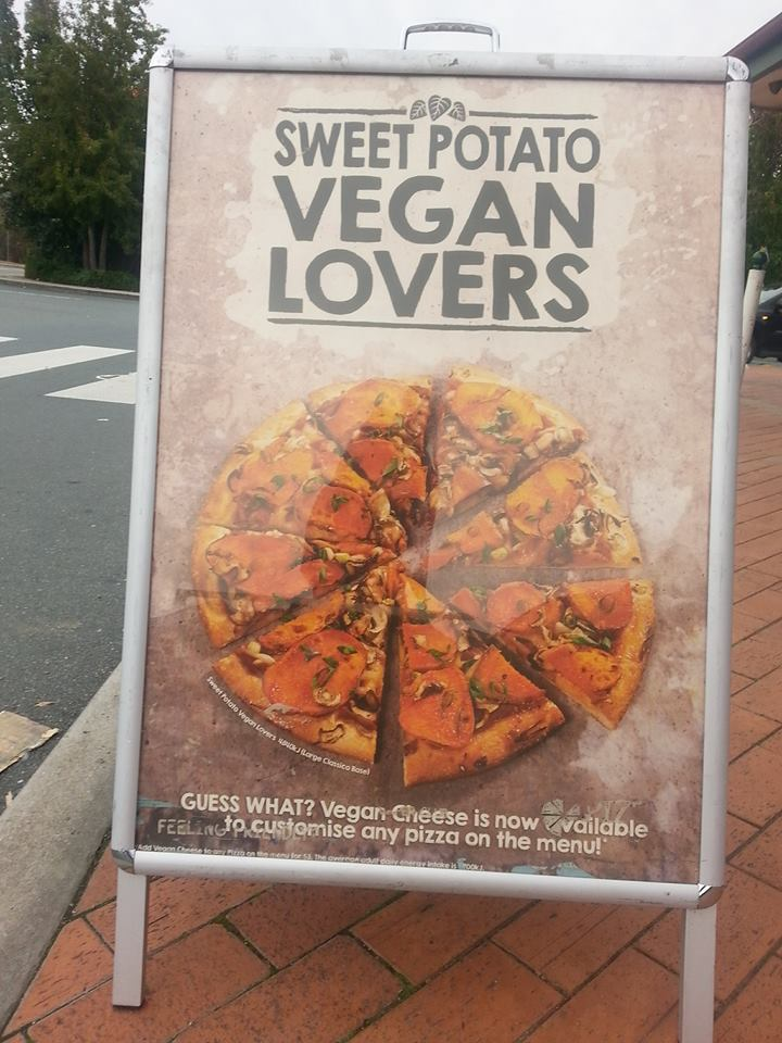 Vegan Sweet Potato Pizza @ Pizza Capers