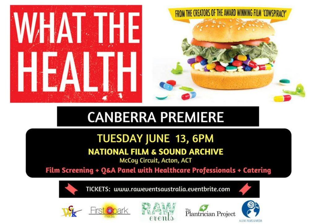What The Health Canberra Première and Panel Q&A – Tuesday, 13 June 2017