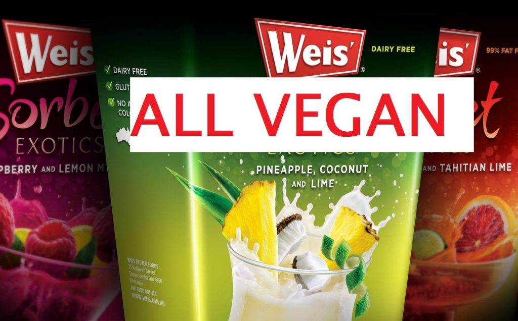 All Weis' Sorbets are Vegan!