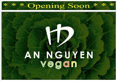 An Nguyen Vegan, Kingston – Opening Wednesday, 19 July 2017