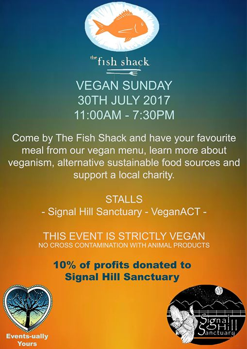 Vegan Sunday @ The Fish Shack – Sunday, 30 July 2017