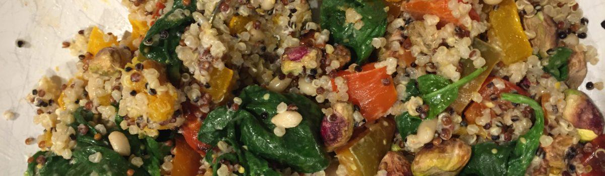 Warm Quinoa Veggie Salad Recipe by Laur