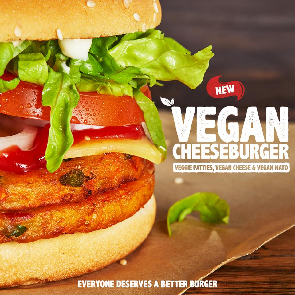 Hungry Jack's New Vegan Cheeseburger – October 2018