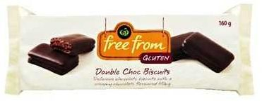 Free From Double Choc Biscuits