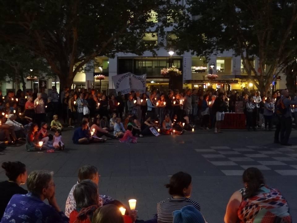 reza's candlelight vigil
