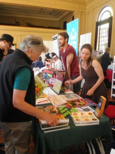 Vegan ACT Stall at the Living Green Festival 2014