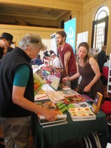 Vegan ACT Stall at the Living Green Festival 2014