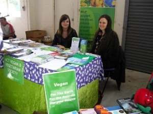 Vegan ACT Stall at Connect and Participate Expo – Saturday, 28 March 2015