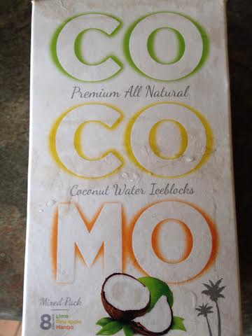 COCOMO premium coconut water ice blocks