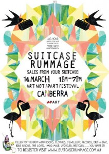 Suitcase Rummage at Art Not Apart Festival – Saturday, 14 March 2015