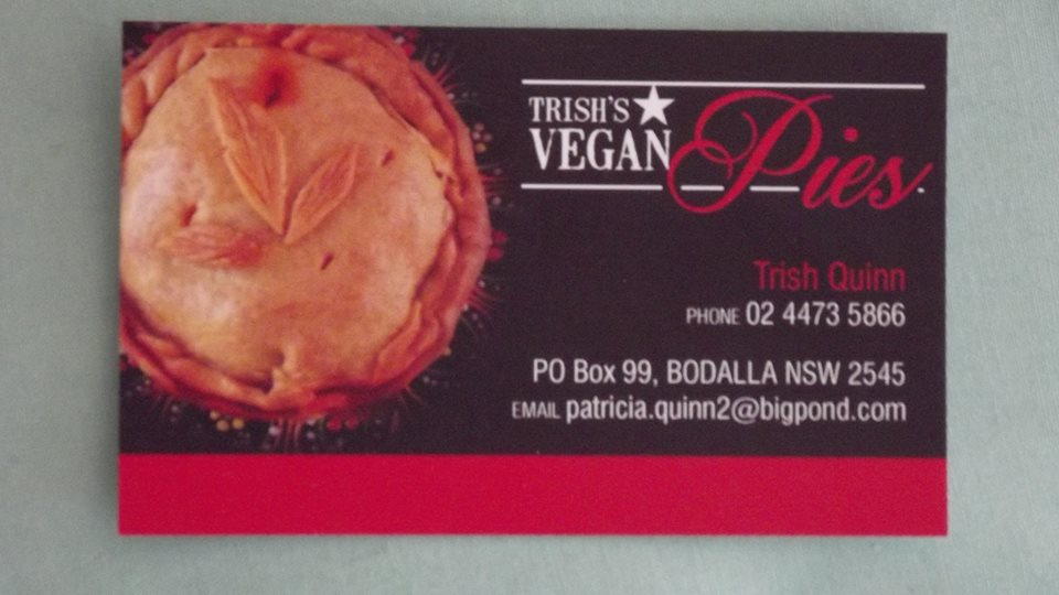 Trish's Vegan Pies Business Card