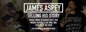 James Aspey Telling His Story – Friday, 28 August 2015