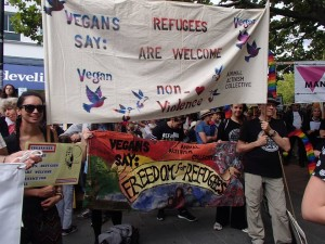 Animal ACTivism Collective:  Vegan Presence at Canberra Palm Sunday Rally – Sunday, 20 March 2016