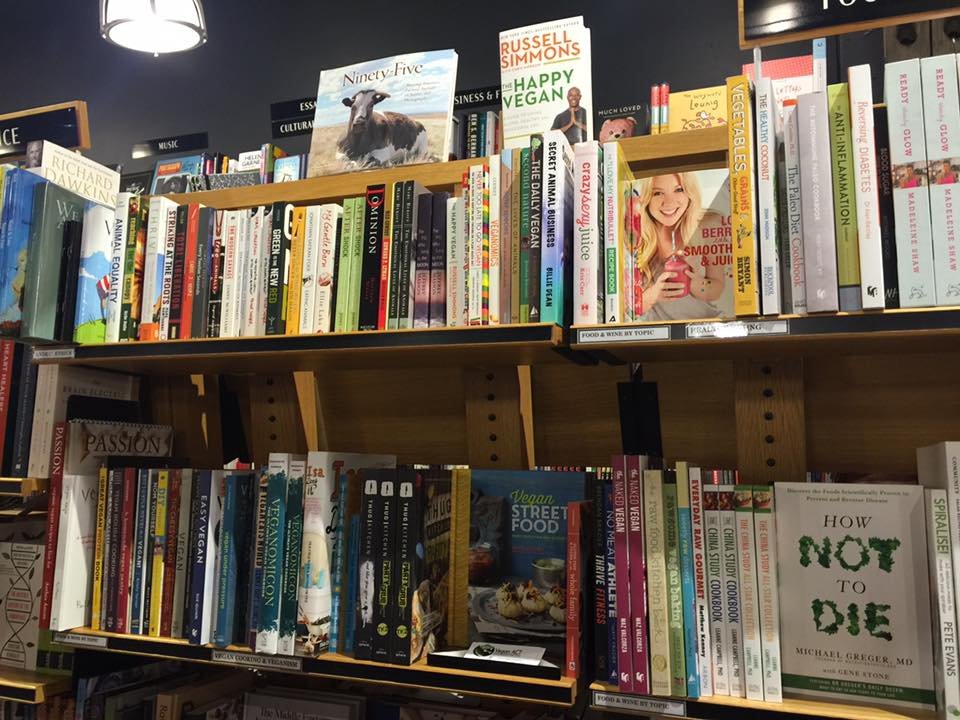 Vegan Book Section at Harry Hartog, Woden