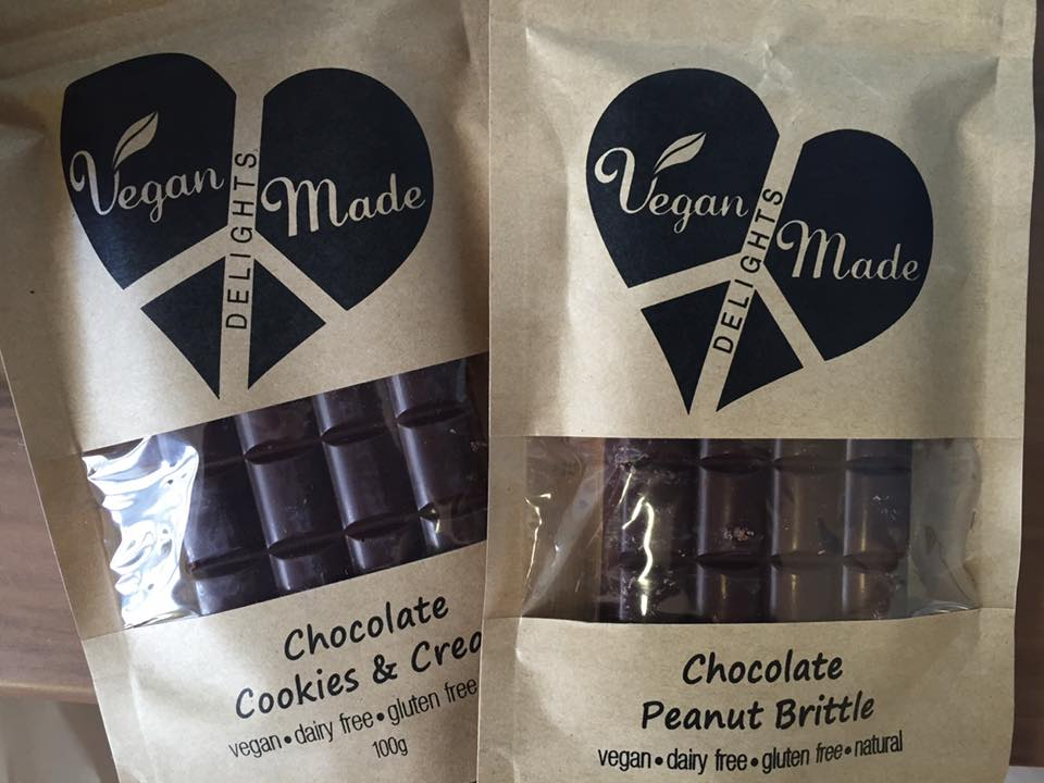 Vegan Made Delights Chocolate @ Go Vita Woden and Jamison