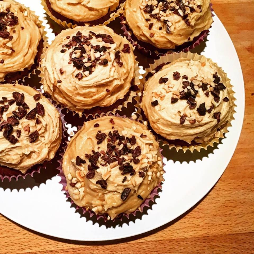 Steffi's Choc Chip Choc Cupcakes with Peanut Butter Frosting