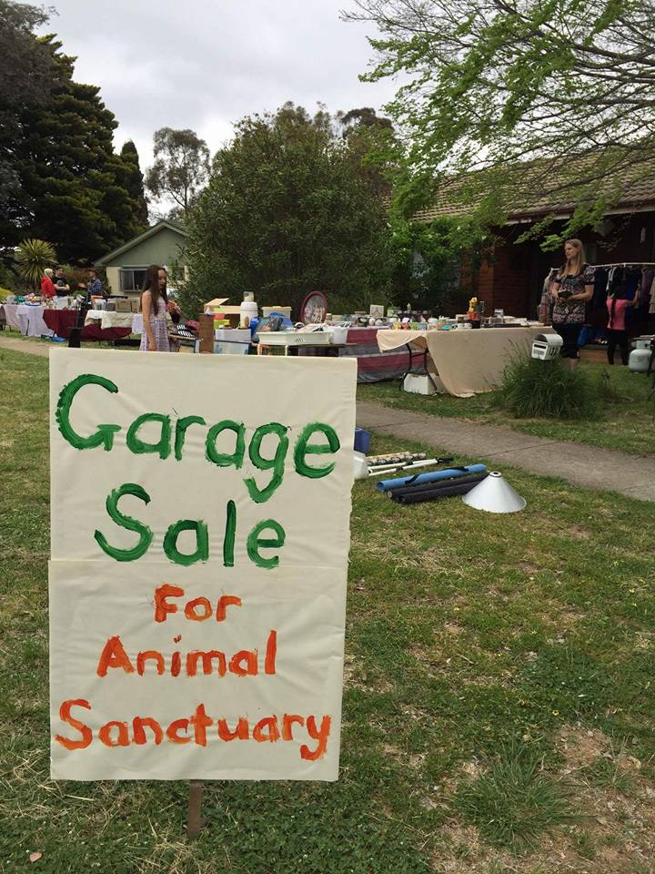 Donate to Vegan ACT Garage Sales in Aid of Animal Sanctuaries