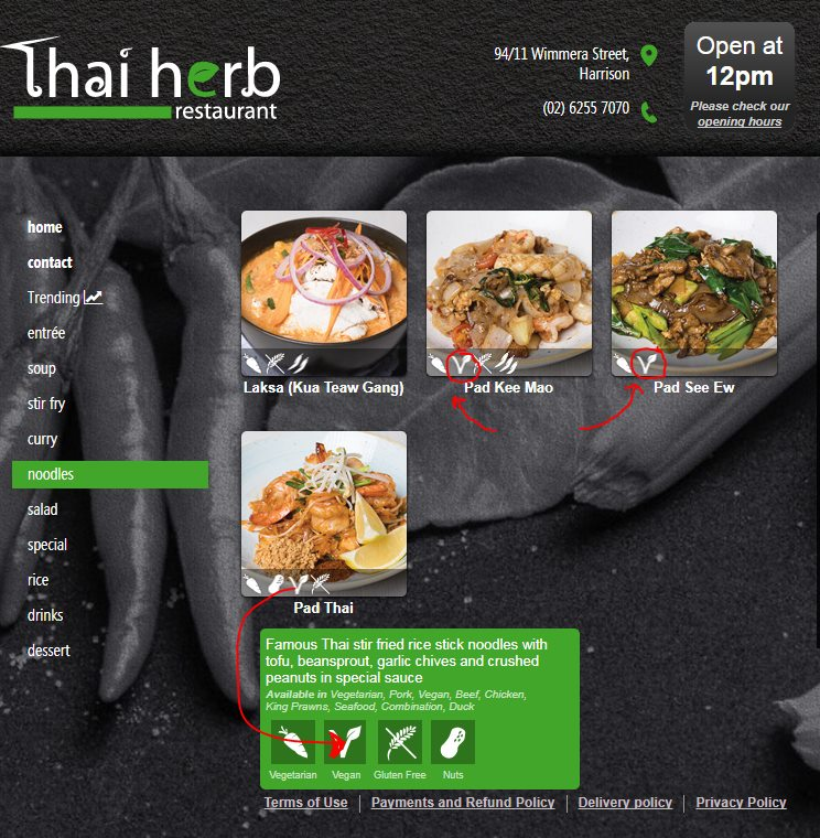 Thai Herb Restaurant, Harrison (Vegan-Friendly)