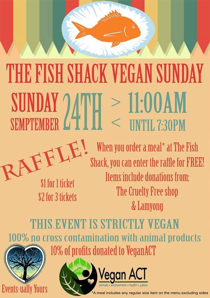 Vegan Sunday @ The Fish Shack – 24 September 2017