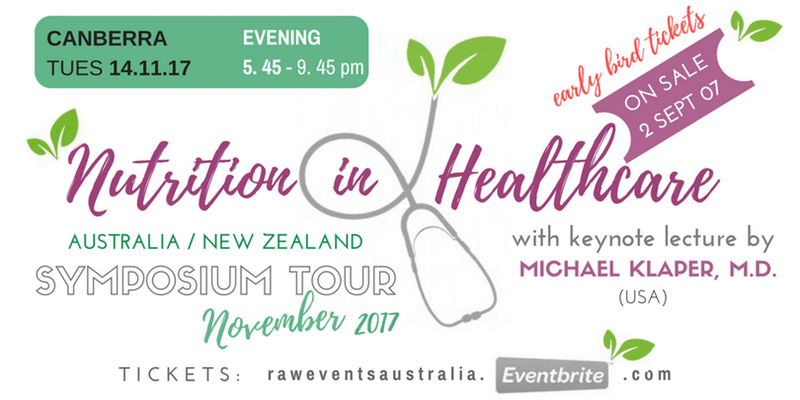 Nutrition in Healthcare Symposium with keynote lecture from Michael Klaper MD – Tuesday, 14 November 2017