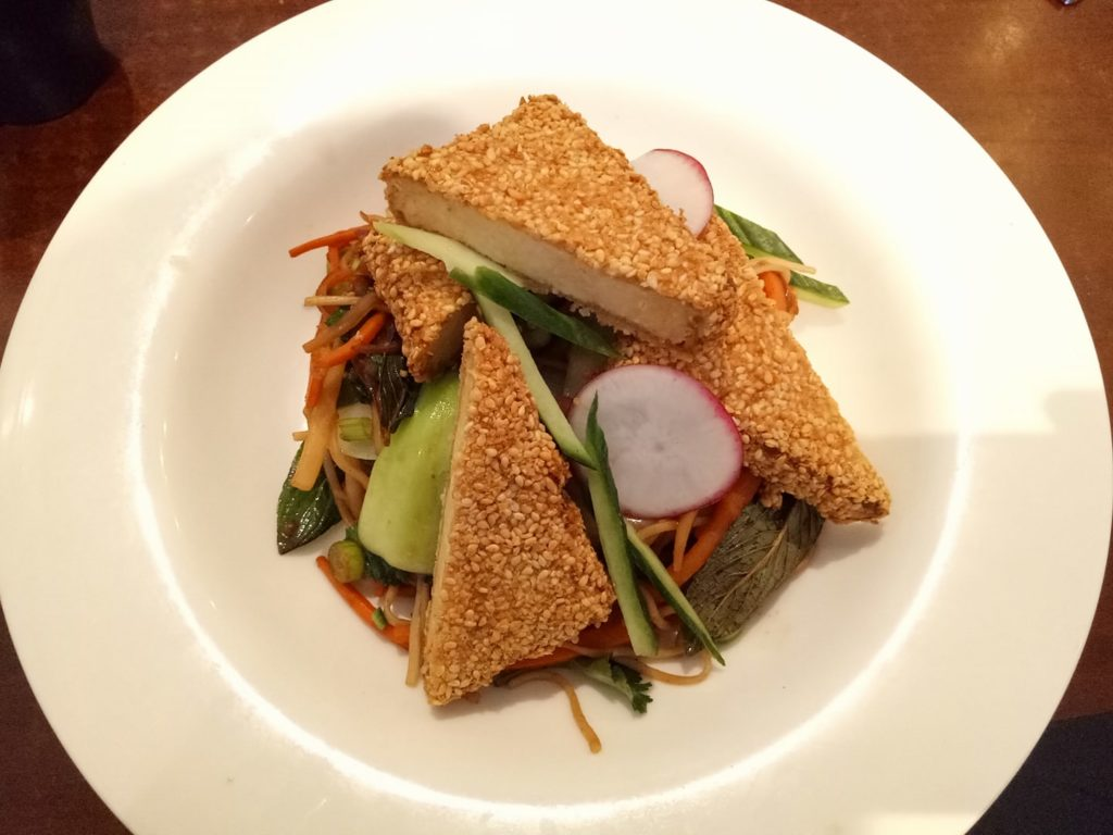 Sesame Crusted Tofu @ 39 Steps, O'Connor