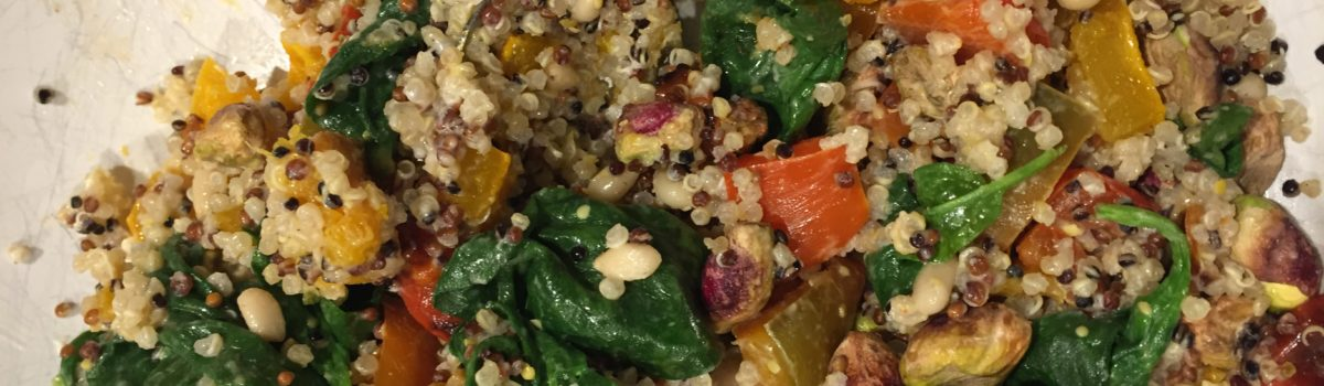 Warm Quinoa Veggie Salad Recipe by Laur