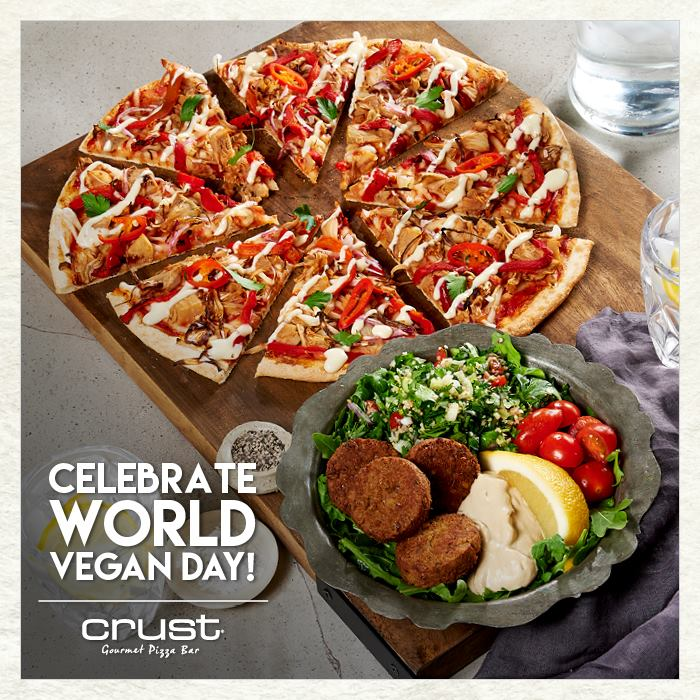Crust Pizza and Middle Eastern Falafel Salad Bowl!